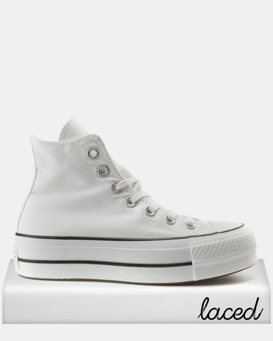 908a31fc604b4 Converse Chuck Taylor All Star Lift Hi Sneakers White Black