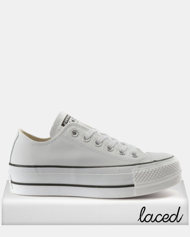 c701384a4666 Converse Chuck Taylor All Star Lift Clean Sneakers OX White Black ...