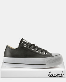 Converse Chuck Taylor All Star Lift Clean Ox Sneakers Black/White