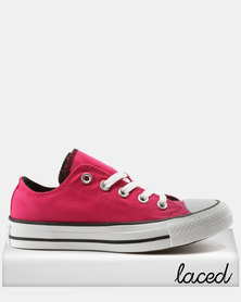 Converse Chuck Taylor All Star Double Tongue Pink Pop Black