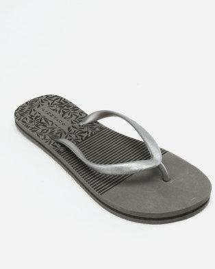 8c6862997 Lizzy Miriam Flip Flops Charcoal Black