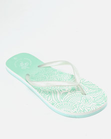 Lizzy Muriel Flip Flops White/Mint