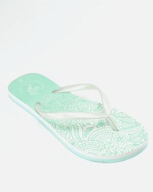 5a9c5d39ecd4 Lizzy Muriel Flip Flops White Mint