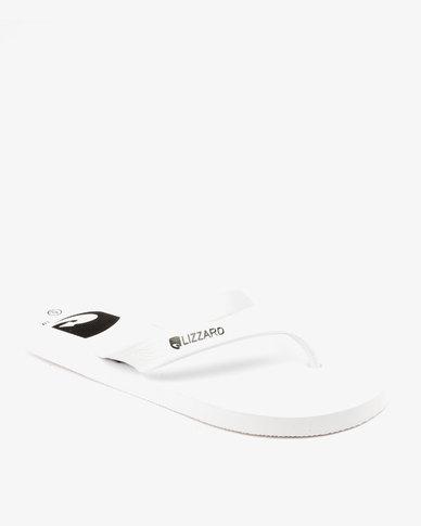 Lizzard Stryker Flip Flops White