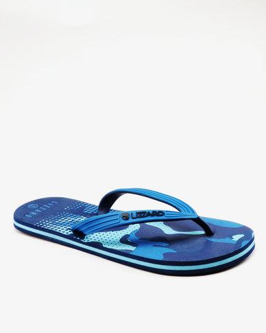Lizzard Comfort Flip Flops Blue Multi