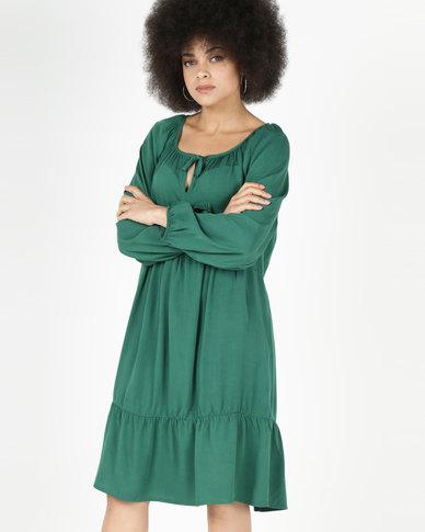01fe32b8d Utopia Viscose Twill Tunic Dress Green | Zando