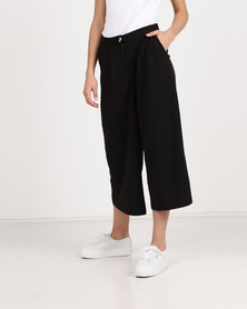 Utopia Cropped Wide Leg Pants Black