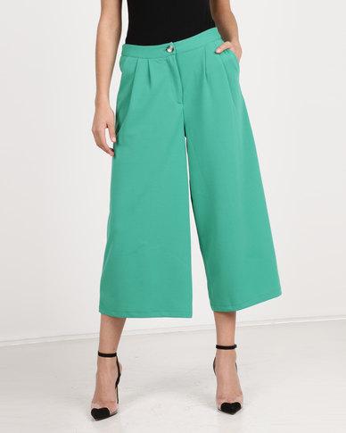 Utopia Cropped Wide Leg Pants Green