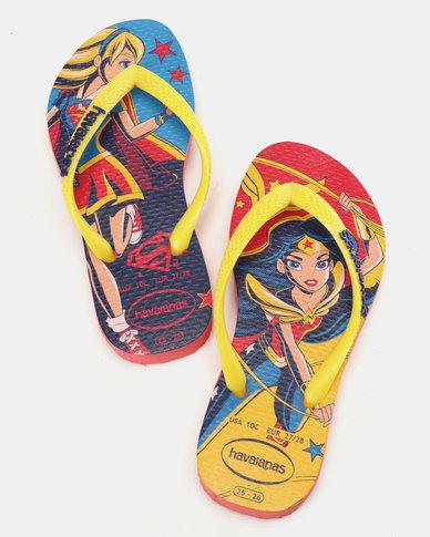 ce59ca119cb9 Havaianas Kids DC Super Hero Flip Flops Orange