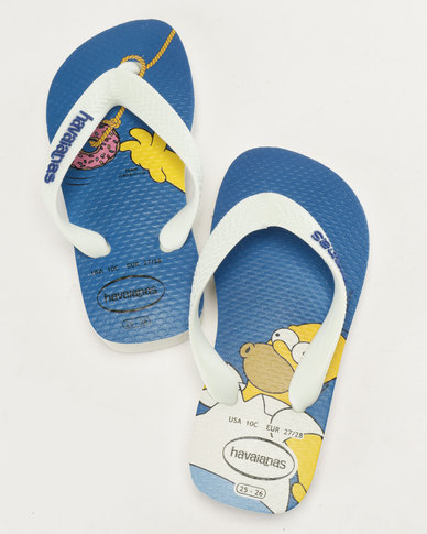 90937fb5736 Havaianas Kids Simpsons Flip Flops White