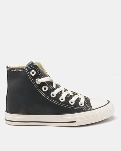 Soviet Viper Basic Pu Hi Cut Lace Up Sneakers Navy