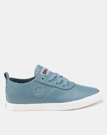 Soviet Callista Low Cut Pu Lace Up Sneakers Pale Blue