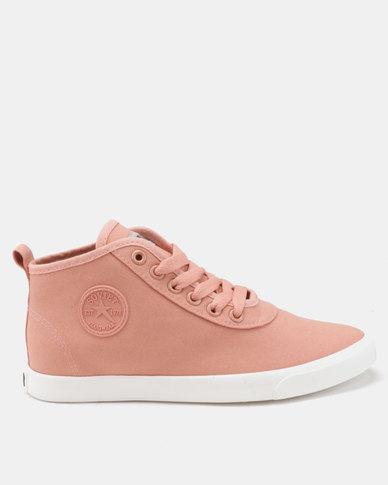 Soviet Callista Mid Cut Canvas/Denim Sneakers Dusty Pink