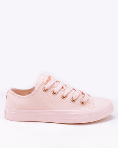 Soviet Viper Low Cut Canvas Sneakers Light Pink Mono