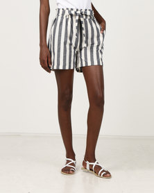 N'Joy Striped Shorts Blue & Cream