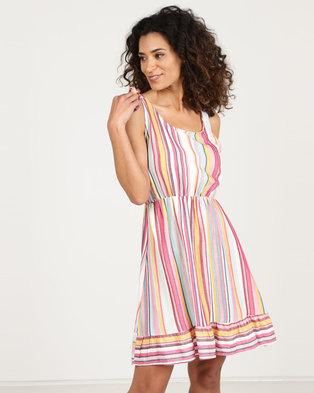 25dc169c7ff43 N Joy Tie Shoulder Strap And Frill Hem Dress Multi