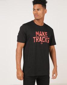 Converse Make Tracks Tee Black