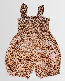 Eco-Punk Baby Romper Meow