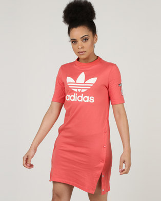 f41cc55ca89 adidas Originals Adibreak Tee Dress Trace Scarlet