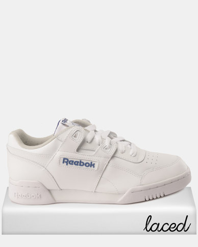 2d29d806345 Reebok Workout Plus Sneakers White Royal