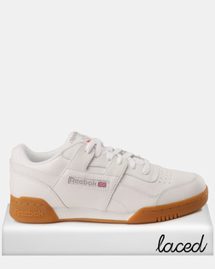 Reebok Workout Plus Sneakers White Carbon Red Roy af5b5b197e
