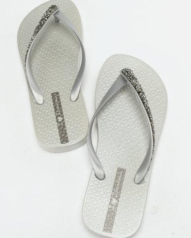 5ae7f67b7 Ipanema Glam Special Flip Flops Silver