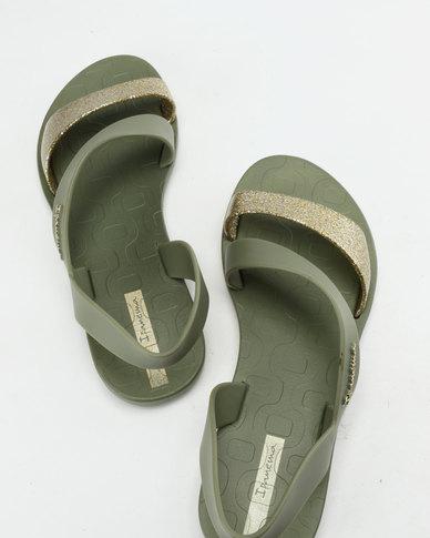 afa6b634109b Ipanema Vibe Sandals Fem Green Gold