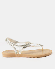 Grendha Riviera III Sandals Fem Gold