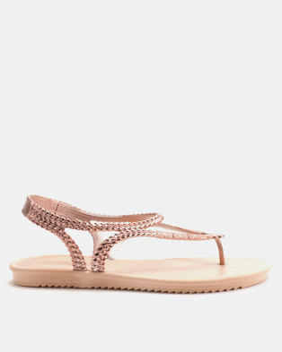 93f5289a4 Grendha Riviera III Sandals Fem Rose