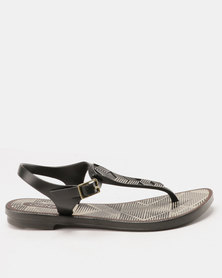 Grendha Romantic II Sandals Fem Black/Grey