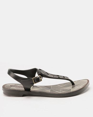 Grendha Romantic II Sandals Fem Black/Grey