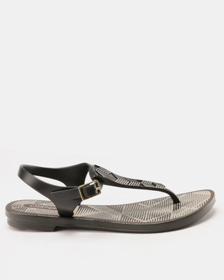 da903a79299b Grendha Romantic II Sandals Fem Black Grey