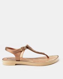 Grendha Romantic II Sandals Fem Beige Bronze