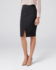 Forever New Eliza Corset Pencil Skirt Black