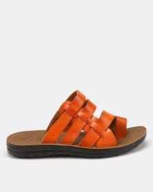 Carlo Bossi Toe Wrap Sandals Tan