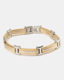 Xcalibur Bracelet And Ring Set Gold-tone/Silver-tone