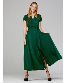 MARETHCOLLEEN Philly Wrap Dress Emerald