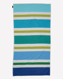 Colibri Towelling Beach Towel Blue Stripe