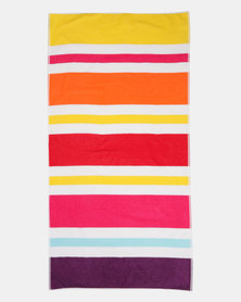 Colibri Towelling Samba Stripe Beach Towel Multi