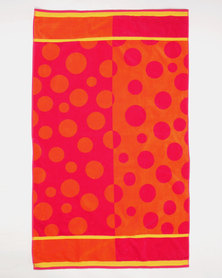 Colibri Towelling Zim Zam Beach Towel Orange
