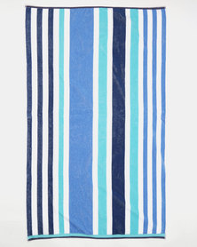 Colibri Towelling Finley Beach Towel Blue