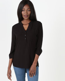 Utopia Oasis Blouse Black