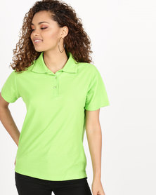 Utopia Pique Polo Lime Green