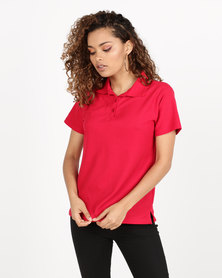 Utopia Pique Polo Red