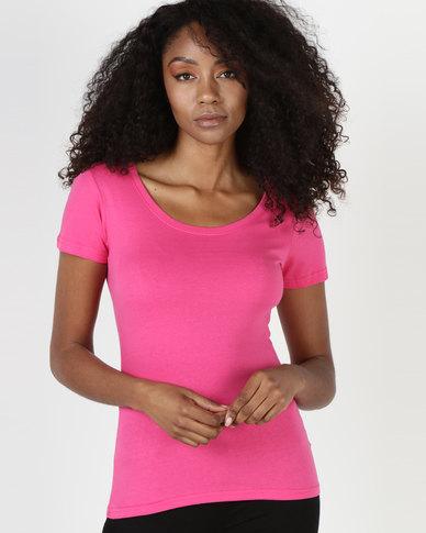 Utopia 160g Cotton Tee Bright Pink