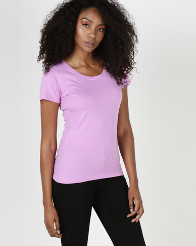 Utopia 160g Cotton Tee Lilac