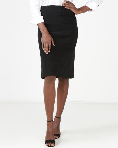 Utopia Basic Work Pencil Skirt Black