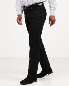 Utopia Relaxed Fit Brushed Twill 5 Pocket Black
