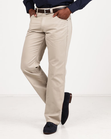 Utopia Relaxed Fit Brushed Twill 5 Pocket Stone