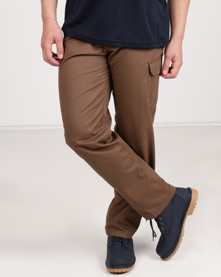 Utopia Twill Cargo Pants Khaki